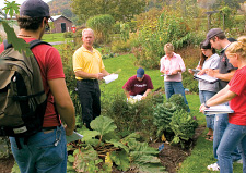 Sustainable Crop Production class in garden