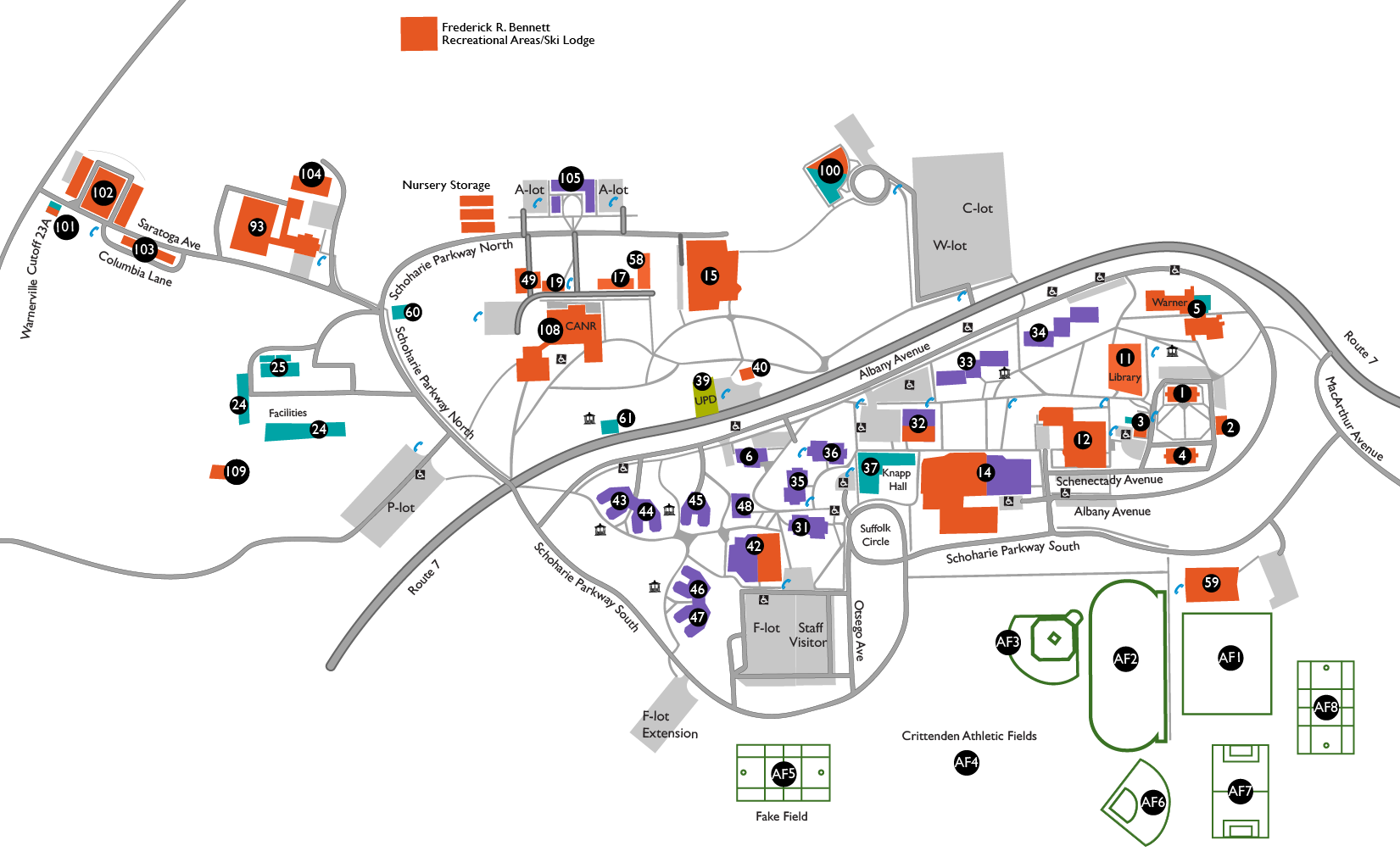 SUNY Cobleskill Campus Map