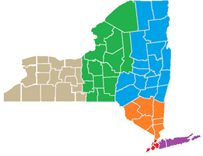 map of New York State counties