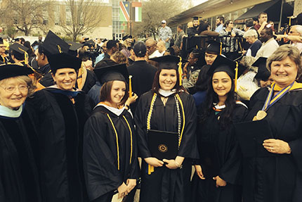 SUNY Cobleskill Applied Pyschology Students and Professors at Graduation