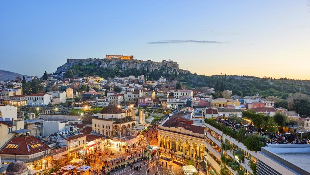view of athens greece