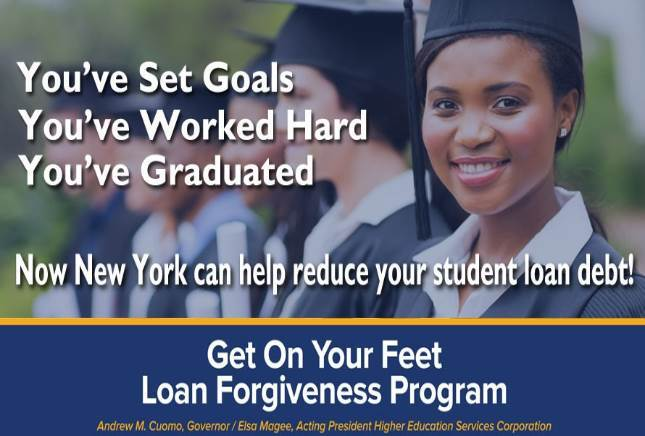 NYS Get On Your Feet Loan Forgiveness Program